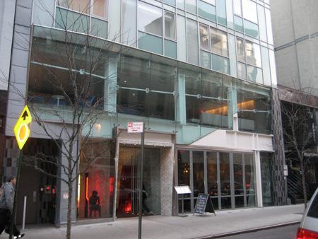 A entrada do hotel