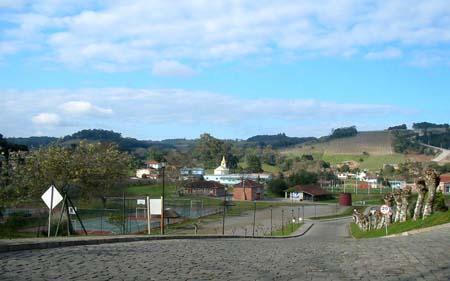Vale dos Vinhedos visto do Villa Michelon