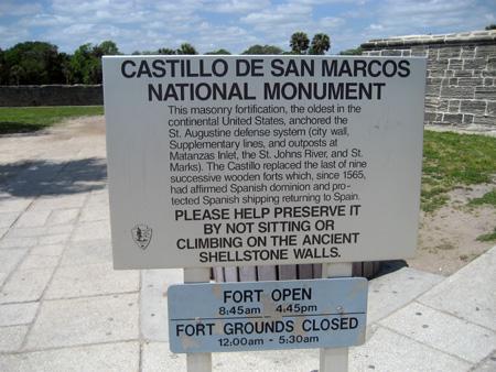Monumento Nacional - Castillo de San Marcos