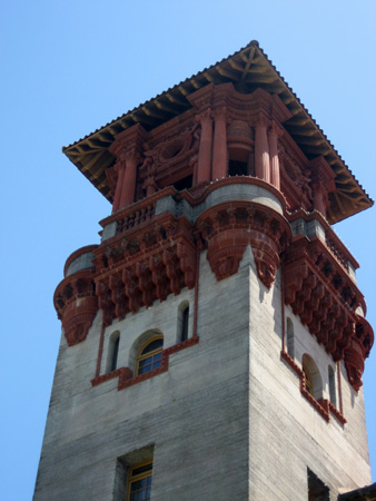 Detalhe da torre da Prefeitura