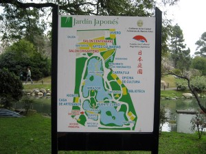 Mapa do Jardín Japonés