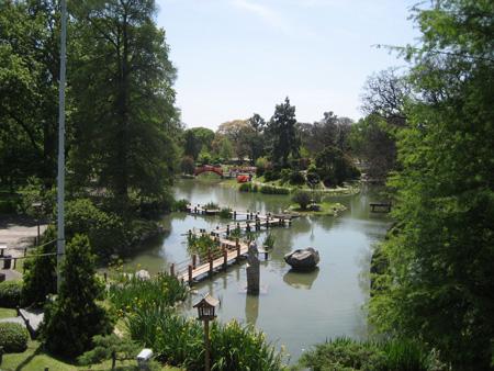 O Jardín Japonés, visto do 2o. andar do centro cultural