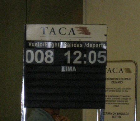 O horário previsto para a decolagem