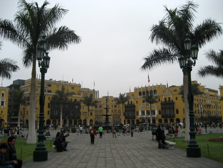 A Plaza de Armas, ou Plaza Mayor