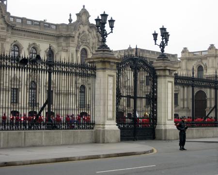 Troca da guarda no Palácio de Governo