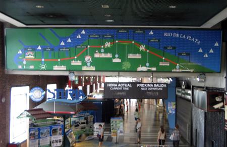 O itinerário do Tren de la Costa