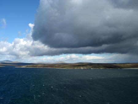 O tempo é imprevisível nas Malvinas...