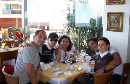 Paulinho, Marcio, eu, Clyffson e Andréa