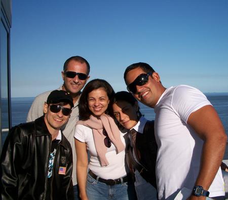Marcio, Paulinho, eu, Andréa e Clyffson