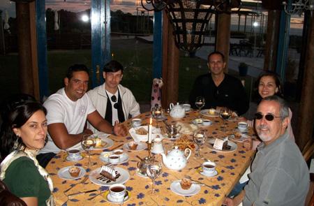 Andréa, Clyffson, Marcio, Paulinho, eu e JB no Las Cumbres