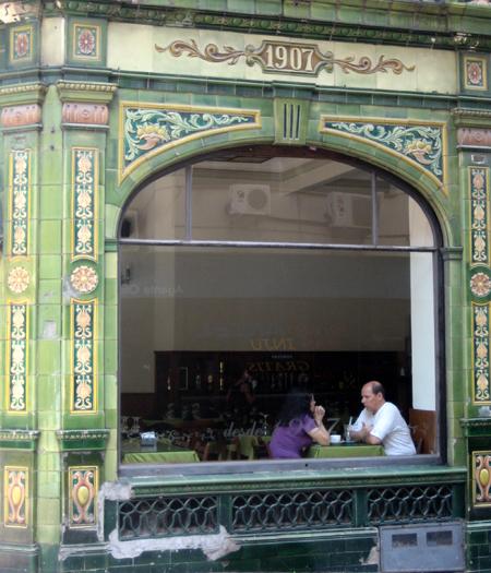 Um café na Ciudad Vieja