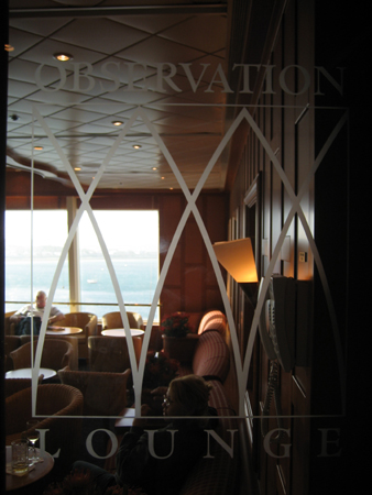 Observation Lounge - o mar visto de camarote