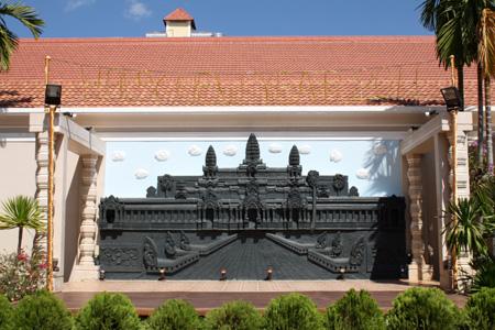 Angkor no pano de fundo do palco