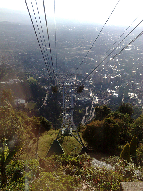 Bogotá vista do funicular