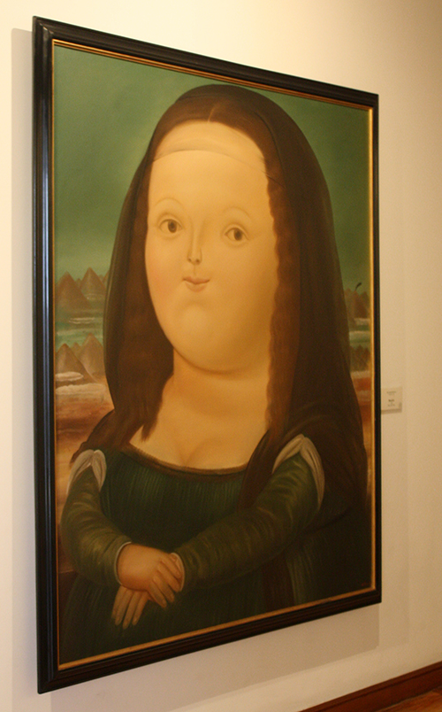 """Releitura """"fofinha"""" da Mona Lisa"""