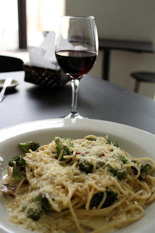 Spaghetti com vinho - que delícia...