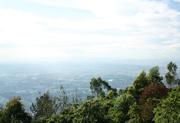 Bogotá vista do Cerro de Monserrate