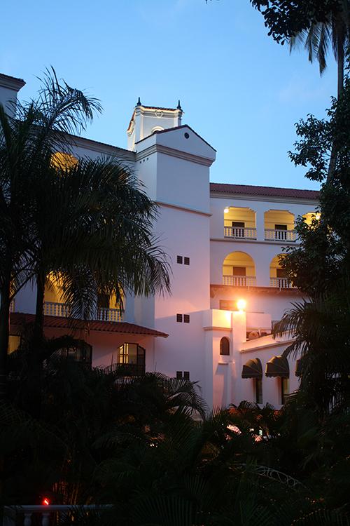Hotel Caribe ao entardecer