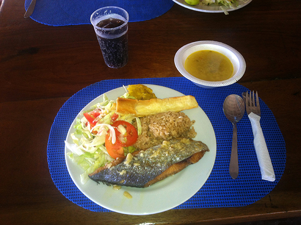 Almoço típico do Caribe colombiano