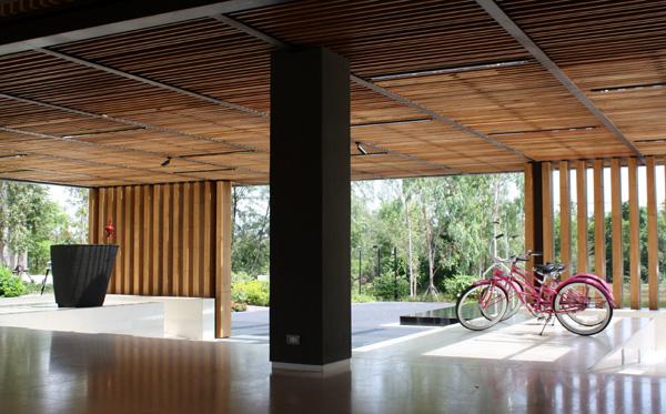 Bicicletas no lobby