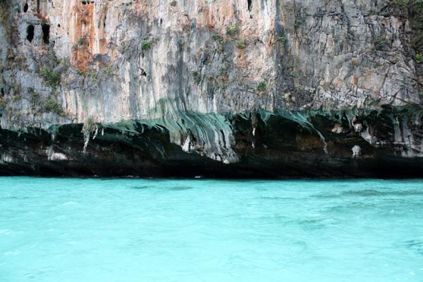 O impressionante tom de azul (ou verde?) da água...