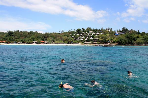 Shark point - com o The Beach Resort ao fundo...