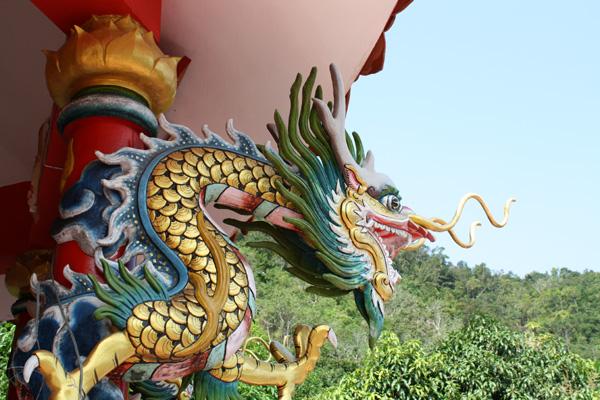 Detalhe na entrada do templo
