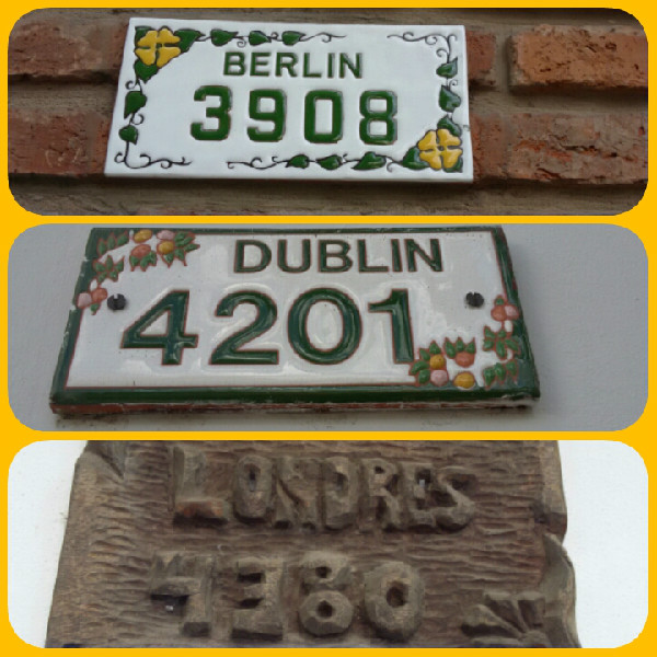 Placas com os nomes das ruas